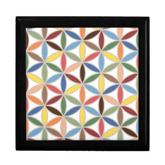 Flower of Life Retro Color Pattern Keepsake Box