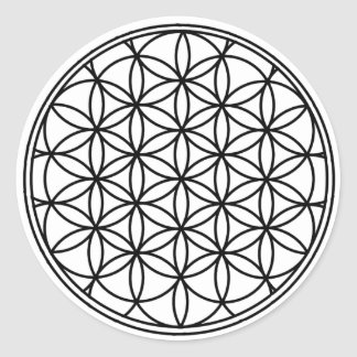 Flower of Life Round Sticker