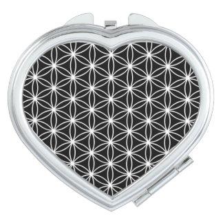 Flower Of Life Sacred Geometry Travel Mirrors