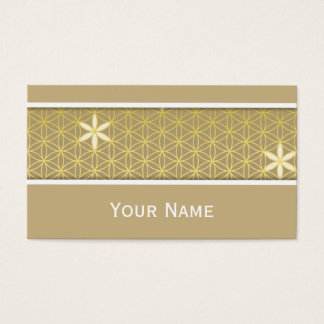 Flower Of Life - seamless pattern - golden Business Card
