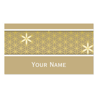 Flower Of Life - seamless pattern - golden Pack Of Standard Business Cards