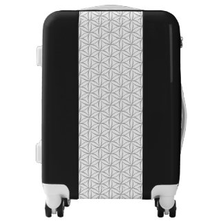 Flower of Life - seamless pattern - silver Luggage