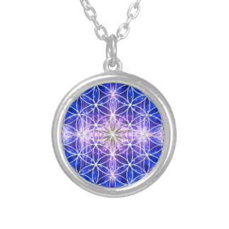 Flower of Life Silver Plated Necklace
