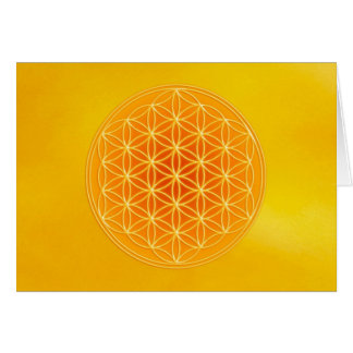 Flower of Life - Solar Plexus Chakra Greeting Card