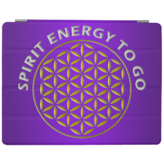 FLOWER OF LIFE - SPIRIT ENERGY TO GO - stamp iPad Cover