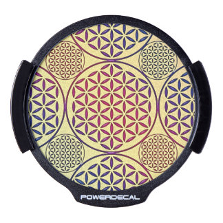 Flower of Life - stamp grunge pattern 1 LED Car Window Decal