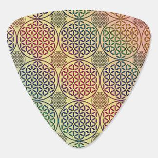 Flower of Life - stamp grunge pattern 1 Guitar Pick