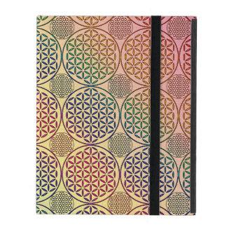 Flower of Life - stamp grunge pattern 1 iPad Folio Cases