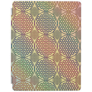 Flower of Life - stamp grunge pattern 1 iPad Cover