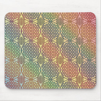 Flower of Life - stamp grunge pattern 1 Mouse Pad