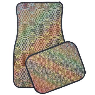 Flower of Life - stamp grunge pattern 1 Car Mat