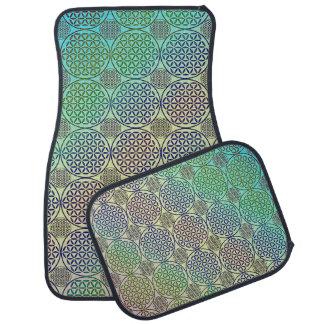 Flower of Life - stamp grunge pattern 2 Floor Mat