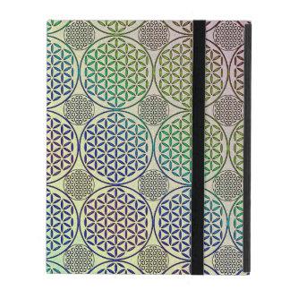 Flower of Life - stamp grunge pattern 2 iPad Case