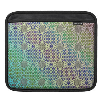 Flower of Life - stamp grunge pattern 2 Sleeve For iPads