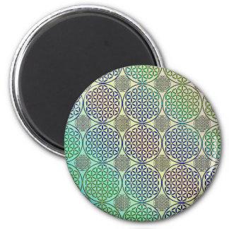 Flower of Life - stamp grunge pattern 2 Fridge Magnet
