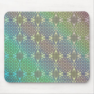 Flower of Life - stamp grunge pattern 2 Mousepad