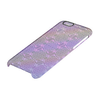 Flower of Life - stamp grunge pattern 3 Clear iPhone 6/6S Case