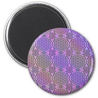 Flower of Life - stamp grunge pattern 3 Magnets