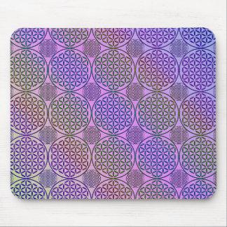 Flower of Life - stamp grunge pattern 3 Mousepad