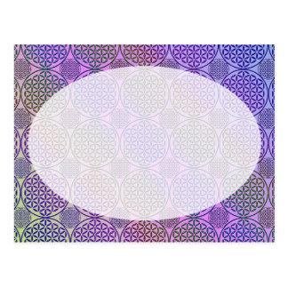 Flower of Life - stamp grunge pattern 3 Post Cards