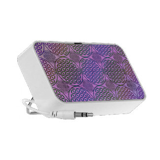 Flower of Life - stamp grunge pattern 3 Travel Speaker