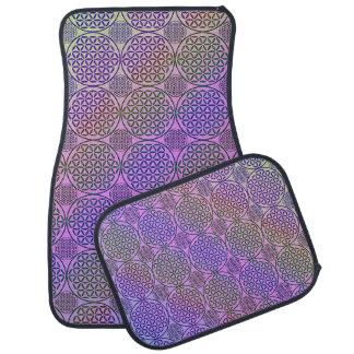 Flower of Life - stamp grunge pattern 3 Car Mat
