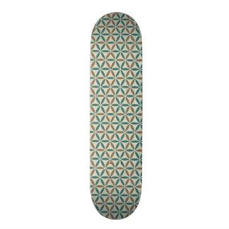 Flower of Life - stamp pattern - BG 1 21.3 Cm Mini Skateboard Deck