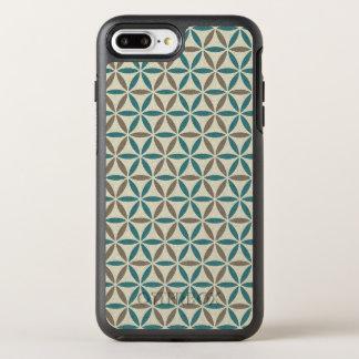Flower of Life - stamp pattern - BG 1 OtterBox Symmetry iPhone 7 Plus Case
