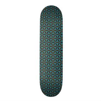 Flower of Life - stamp pattern - BG 2 Skate Decks