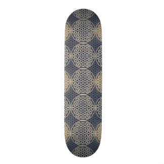 Flower of Life - stamp pattern - blue sand 20.6 Cm Skateboard Deck