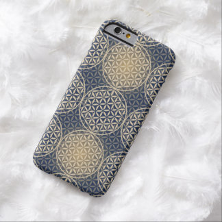 Flower of Life - stamp pattern - blue sand Barely There iPhone 6 Case