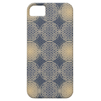 Flower of Life - stamp pattern - blue sand iPhone 5/5S Case
