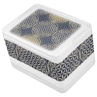 Flower of Life - stamp pattern - blue sand Cooler