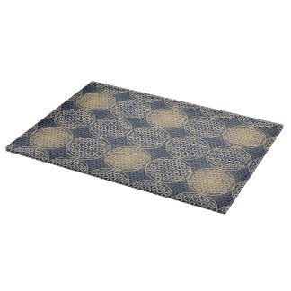 Flower of Life - stamp pattern - blue sand Cutting Board