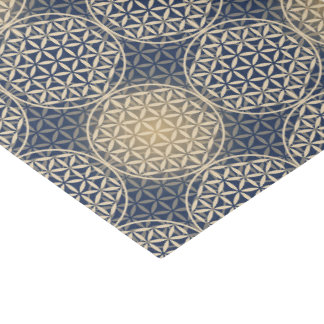 "Flower of Life - stamp pattern - blue sand 10"" X 15"" Tissue Paper"