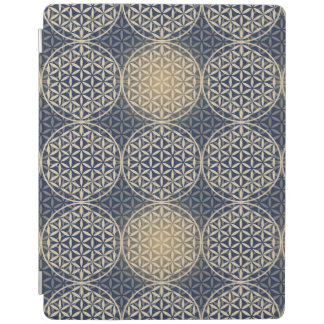 Flower of Life - stamp pattern - blue sand iPad Cover