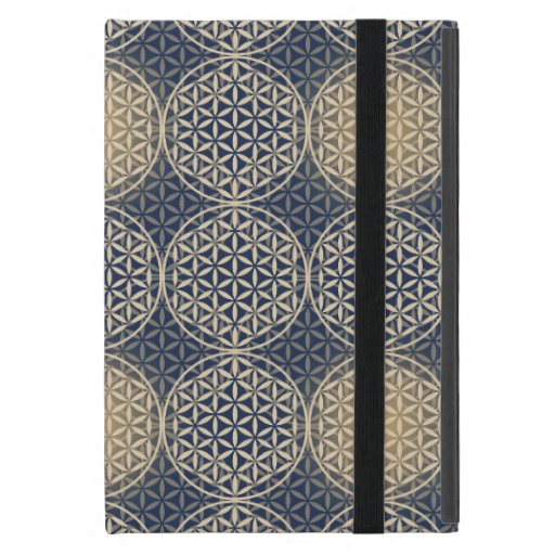 Flower of Life - stamp pattern - blue sand iPad Mini Cases