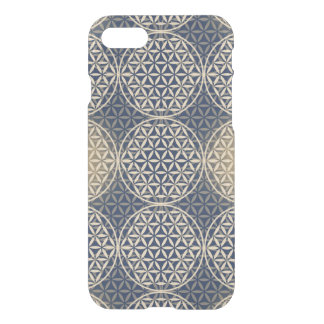 Flower of Life - stamp pattern - blue sand iPhone 7 Case