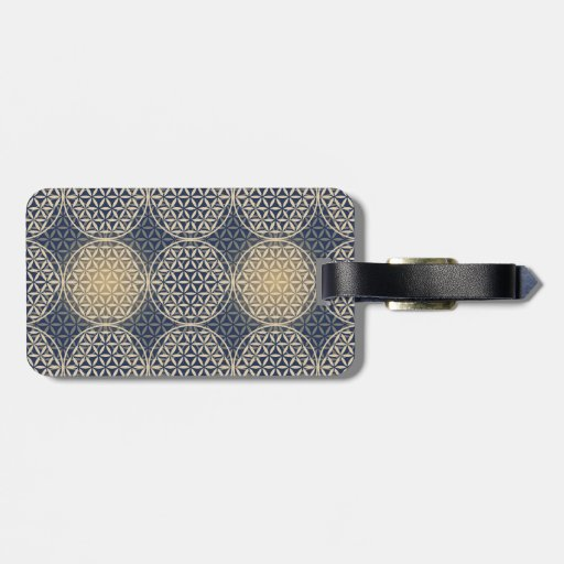 Flower of Life - stamp pattern - blue sand Tag For Luggage