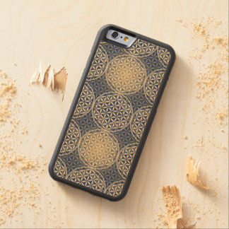 Flower of Life - stamp pattern - blue sand Maple iPhone 6 Bumper