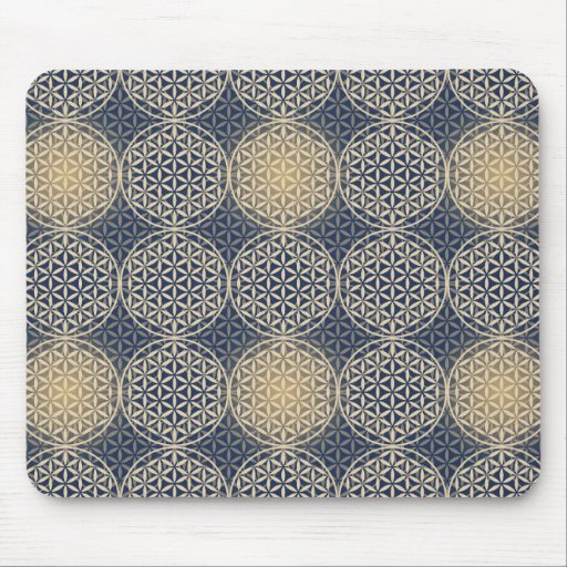 Flower of Life - stamp pattern - blue sand Mousepads