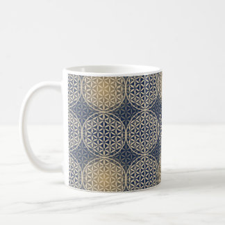 Flower of Life - stamp pattern - blue sand Coffee Mugs