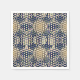 Flower of Life - stamp pattern - blue sand Paper Napkin