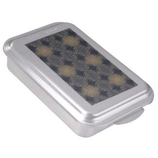 Flower of Life - stamp pattern - blue sand Cake Pan