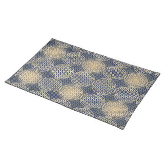 Flower of Life - stamp pattern - blue sand Placemats