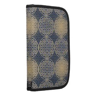 Flower of Life - stamp pattern - blue sand Organizers