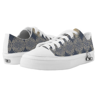 Flower of Life - stamp pattern - blue sand Printed Shoes