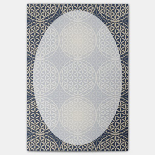 Flower of Life - stamp pattern - blue sand Post-it® Notes