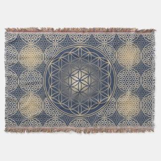 Flower of Life - stamp pattern - blue sand