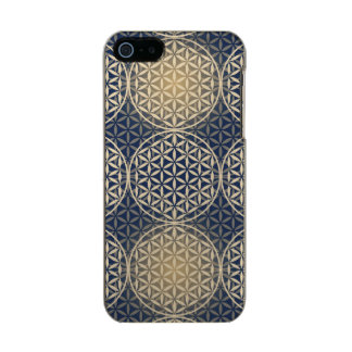 Flower of Life - stamp pattern - blue sand Incipio Feather® Shine iPhone 5 Case
